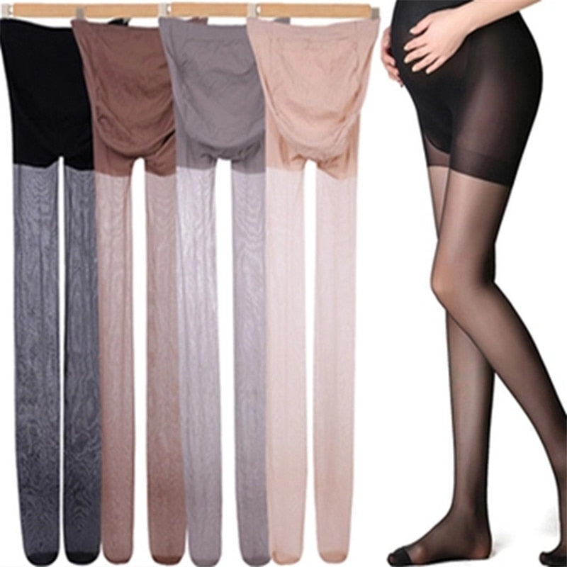 Pantyhose Full Protection Thin Solid Maternity Pants