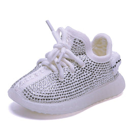 Baby Girl Boy Toddler Shoes Infant Rhinestone Sneakers Coconut Shoes Soft
