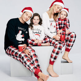 Family Matching Outfits Christmas Clothes Pajamas Set Father Women Kids son Daughter