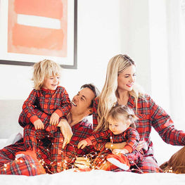 Family Matching Outfits mother father daughter son Christmas Pajamas PJs Set