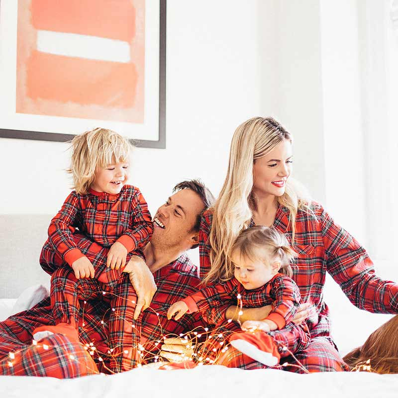 1d12a68cab Family Matching Outfits mother father daughter son Christmas Pajamas PJs Set