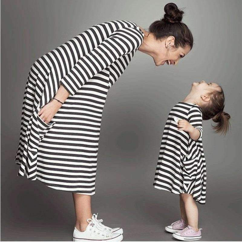 Matching Mother - Daughter Striped Dress - TheMomsZone