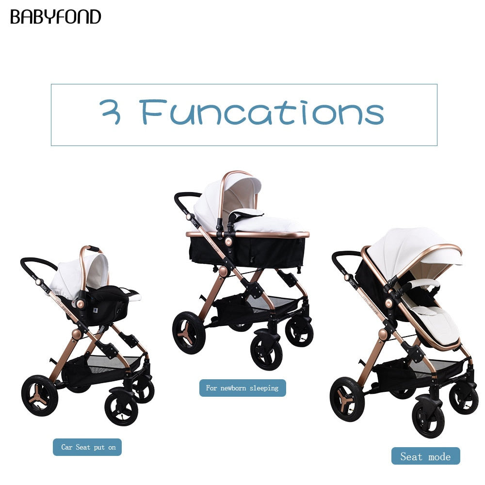 Latest 3 in 1 baby strollers  EU standard newborn baby carriage