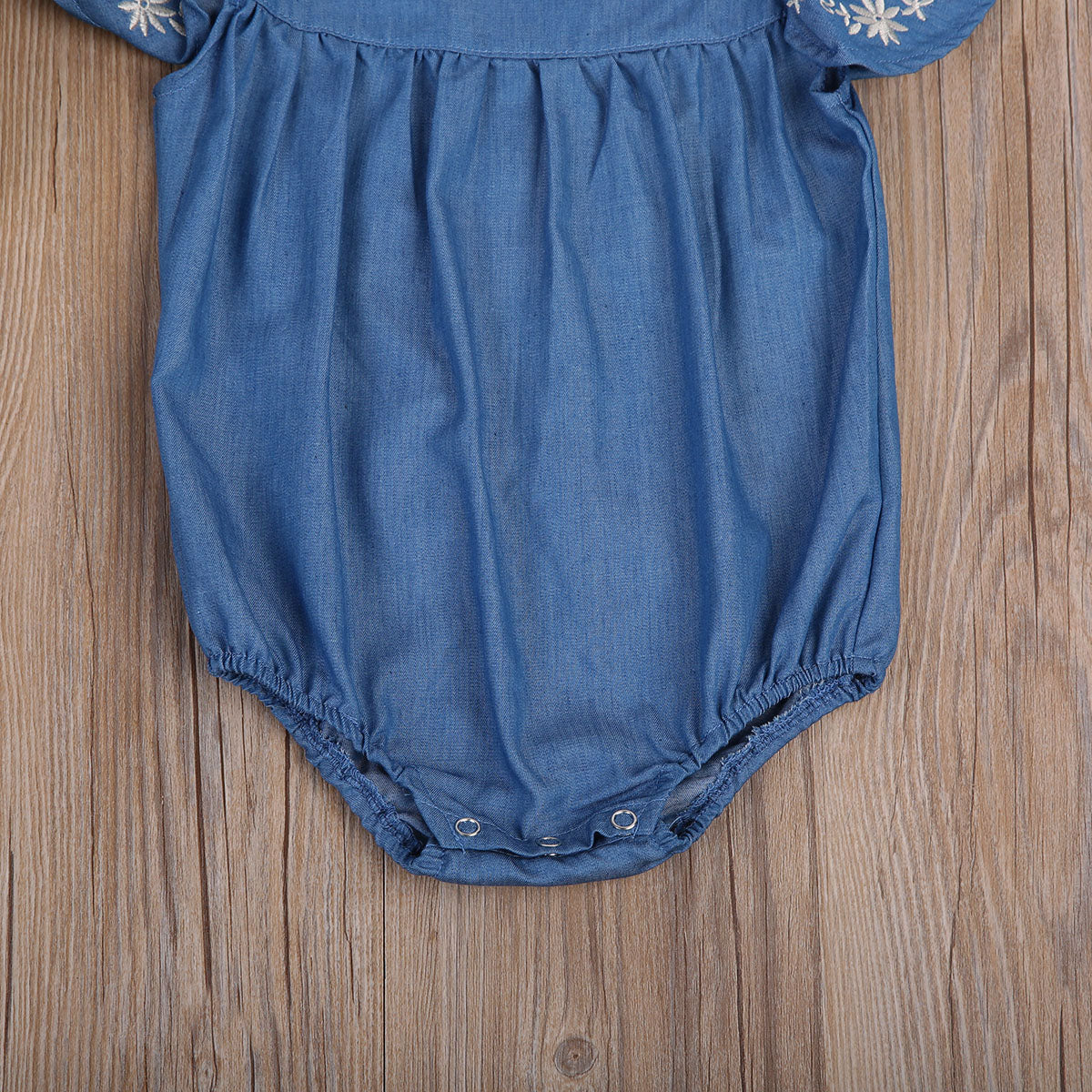 Flying Sleeve Baby Clothing Newborn Baby Girls Denim Romper Jumpsuit 0 24M