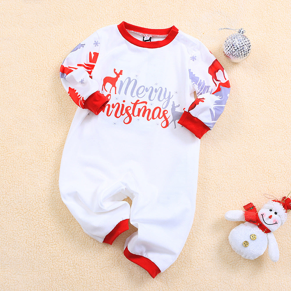 Family Matching Outfits For Christmas New Year Pajamas Set XMAS Adult Kid Cute Party Nightwear Stripe