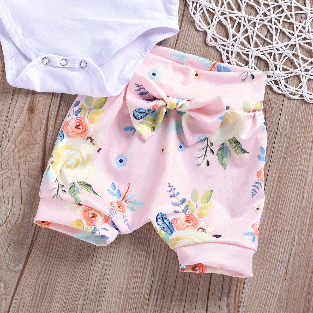 Baby Girls Sister Matching Clothes Outfit T shirt Dress Romper +Shorts 2pcs