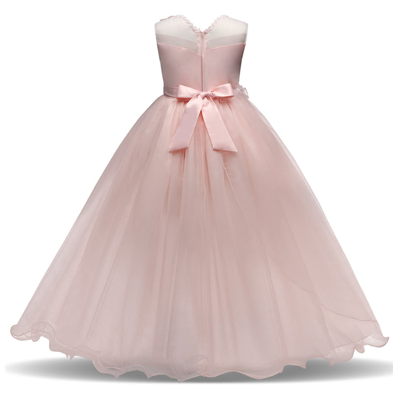Girls Kids Wedding Flower Girl Dress Princess Party Pageant 5 14T Teenage