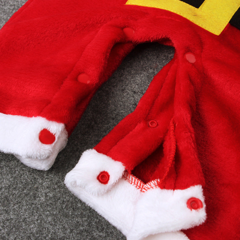 Winter Baby Boy Clothes Christmas Outfits Kids Santa Claus Costume Jumpsuit Long Sleeve Red Romper Baby
