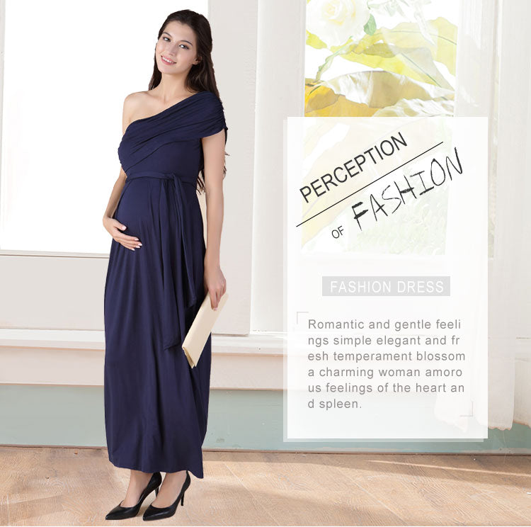 Long Maternity Maxi Dresses Maternity  Elegant Evening Dress For Pregnant Women