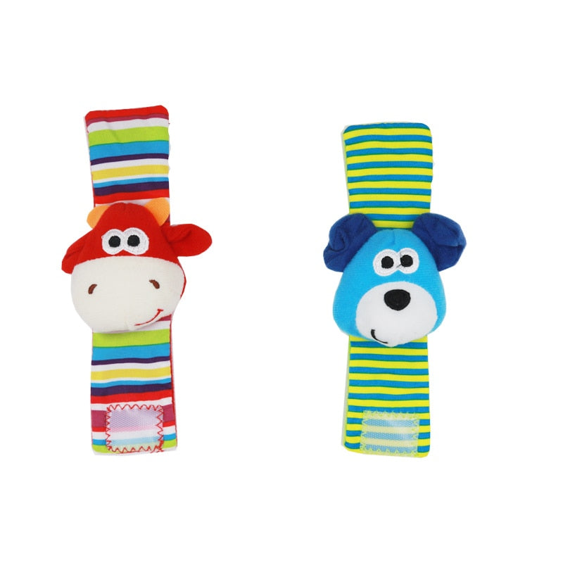 Infant Baby Kids Socks rattle toys Wrist Rattle and Foot Socks 0~24 Months 20% off