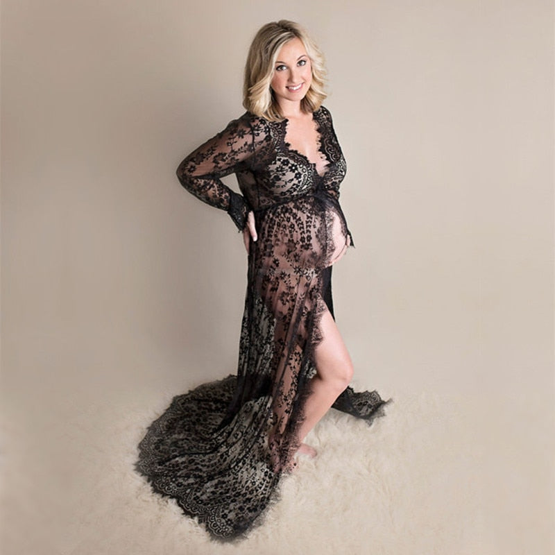 Maternity gown Lace Maternity Dress Fancy