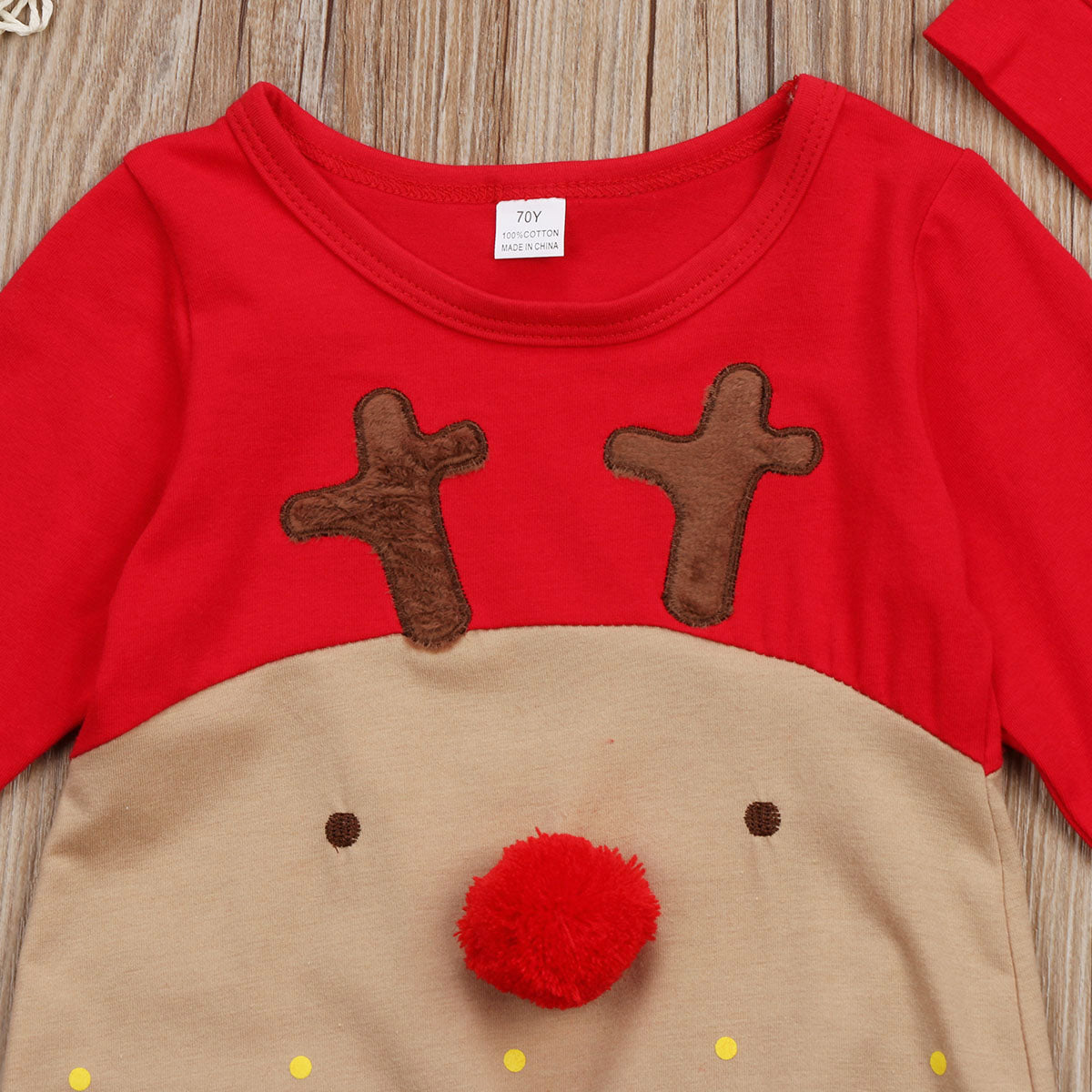 2Pcs Newborn Baby Boys Girl Christmas Rompers Long Sleeve Deer Romper Jumpsuit Hat Sleepwear Party Costume Baby Clothes