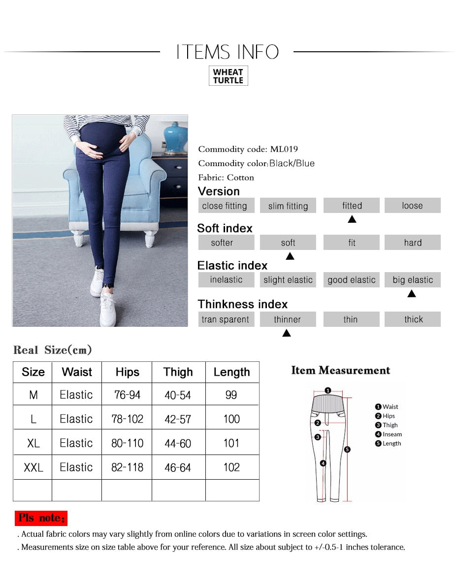 Elastic Pencil Maternity Jeans Skinny  for Pregnant Women Legging Adjustable Waist Soft Pants