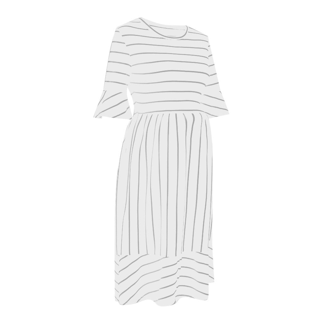 Women Maternity Dress New Fashion Women Maternity Dresses Mother Flare Sleeve Striped Summer Sundress Casual Pregnancy Dress