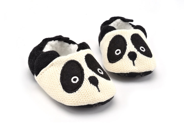 Toddler Baby Boy Girl Knit Crib Shoes Cute Cartoon Anti-slip Prewalker Baby Slippers Newborn Shoes