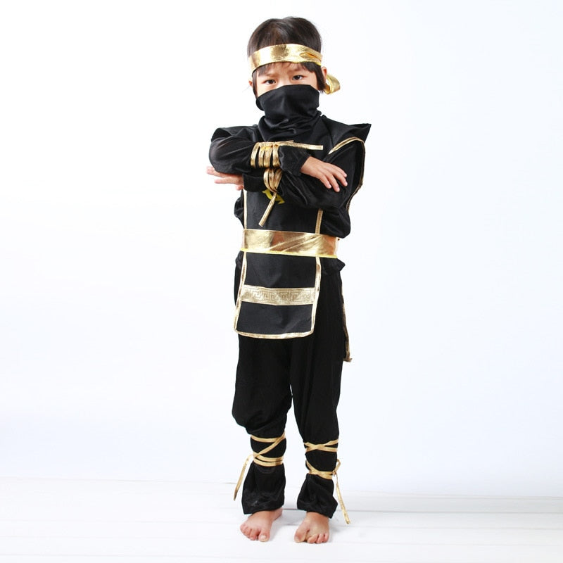 Ninja Costumes Halloween Warrior Stealth Children