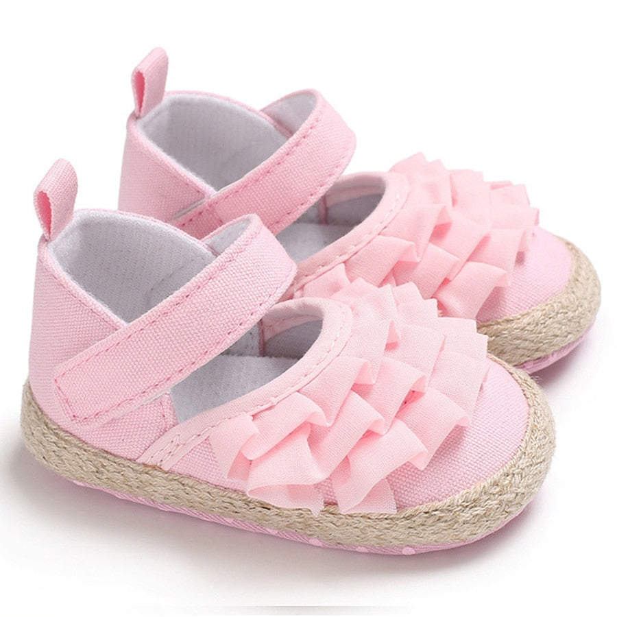 Newborn baby toddler soft bottom princess cotton shoes