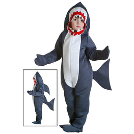 Halloween Baby Shark Costume Grey Shark Jumpsuit  Girls Boys