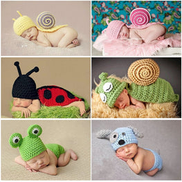 Newborn  Props Infant Boys Girls Crochet Costume Outfits Knitting 0 6month