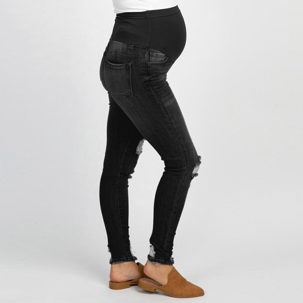 Pregnancy Maternity Jeans Black Pants For