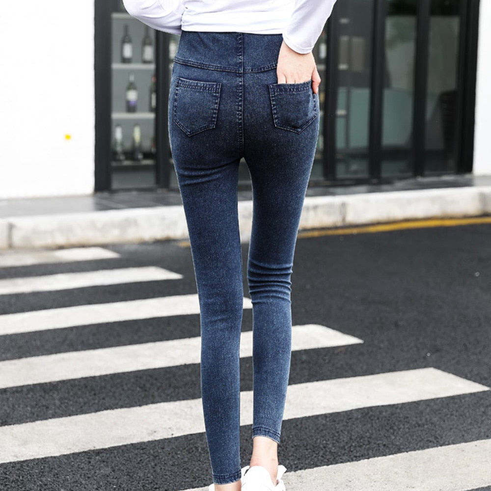 Maternity Jeans Winter Warm For Pregnant Women Nursing Trousers