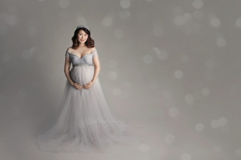 Maternity Photography Long Tulle Dress Summer Pregnancy Photography Customized Maxi Dress