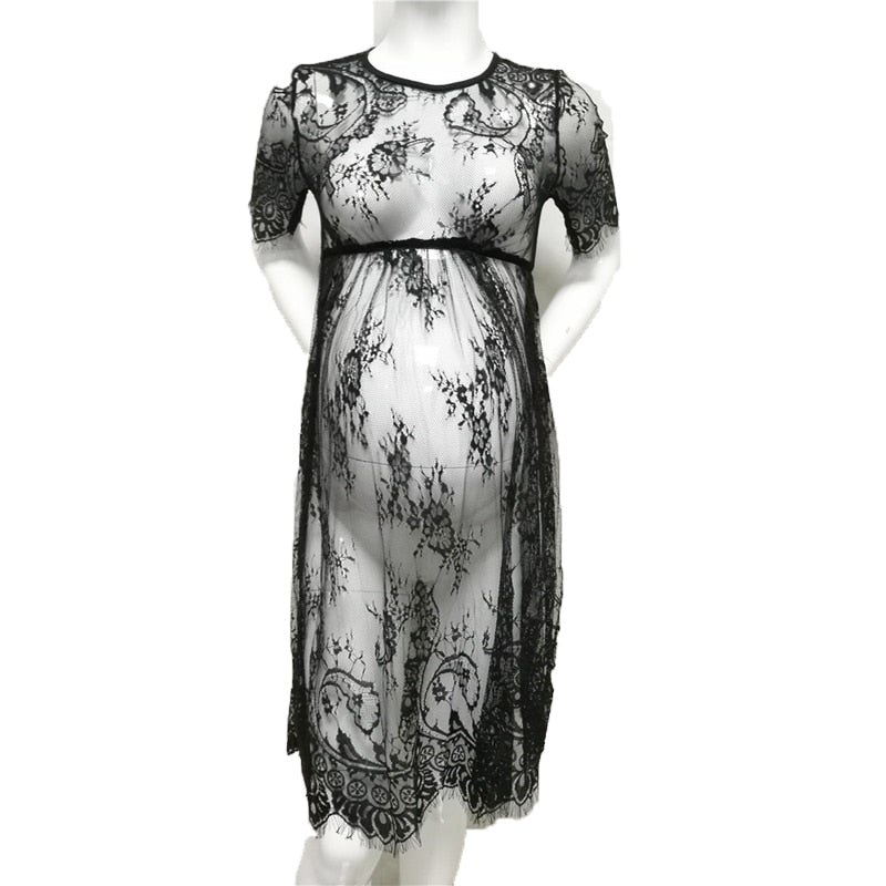 Maternity  Lace See Through Maternity Dress Fancy