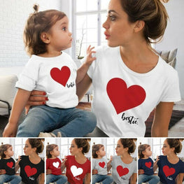 Mommy and me clothes Mother Daughter Matching family outfits T shirt Women