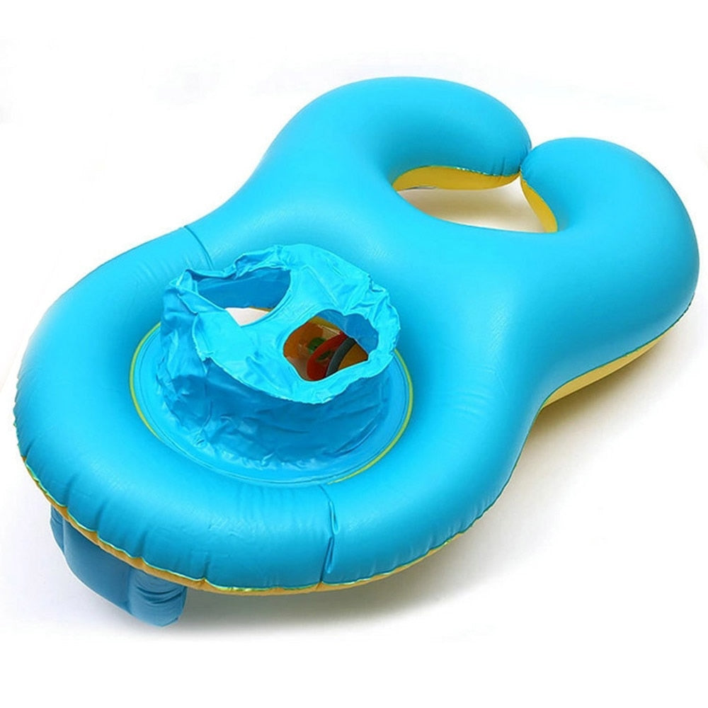 Mother Child Inflatable Ring Swimming Circle Baby Float Double