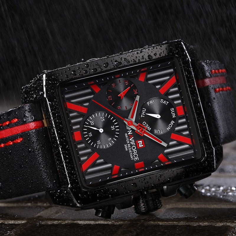 NAVIFORCE Men Fashion Creative Quartz Wrist Watch Sports Watches