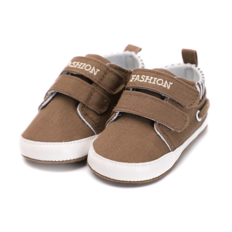 New Baby Boys Girls Canvas Shoes High Quality Two Strap