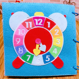 Baby Toys Early Cognitive Education Puzzle Cloth Book With Ring Paper  Small Dolls Soft Cloth Quiet Book