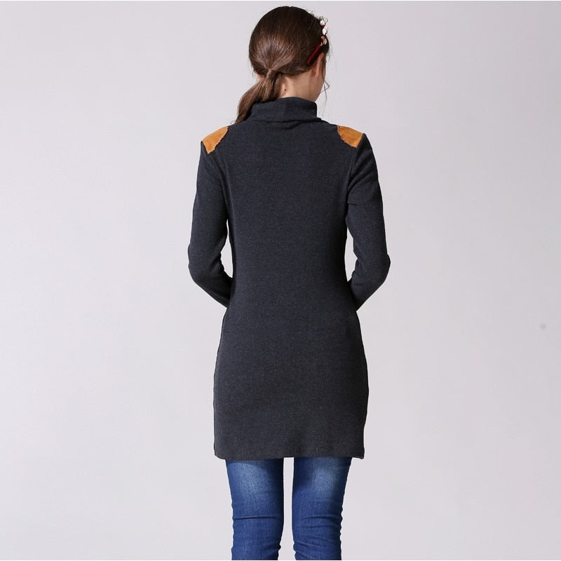 New Turtleneck Maternity Nursing Dress Shirt/ Long Tops for Breastfeeding Pregnancy