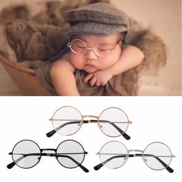 Newborn Baby Accessories Girl Boy Flat Glasses