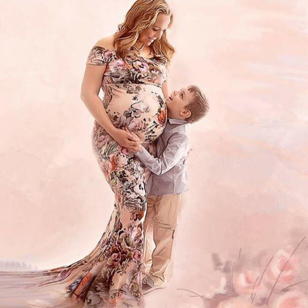 Women Floral Pregnants Dress Sexy