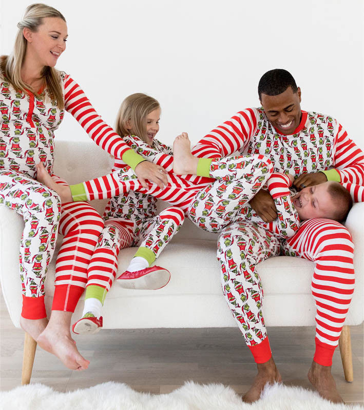 Pyjama Noel Family Matching Clothes Christmas Pajamas Set Women Baby Kids