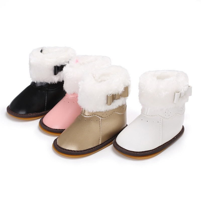 female baby rubber bottom plus cotton warm snow boots baby shoes toddler shoes