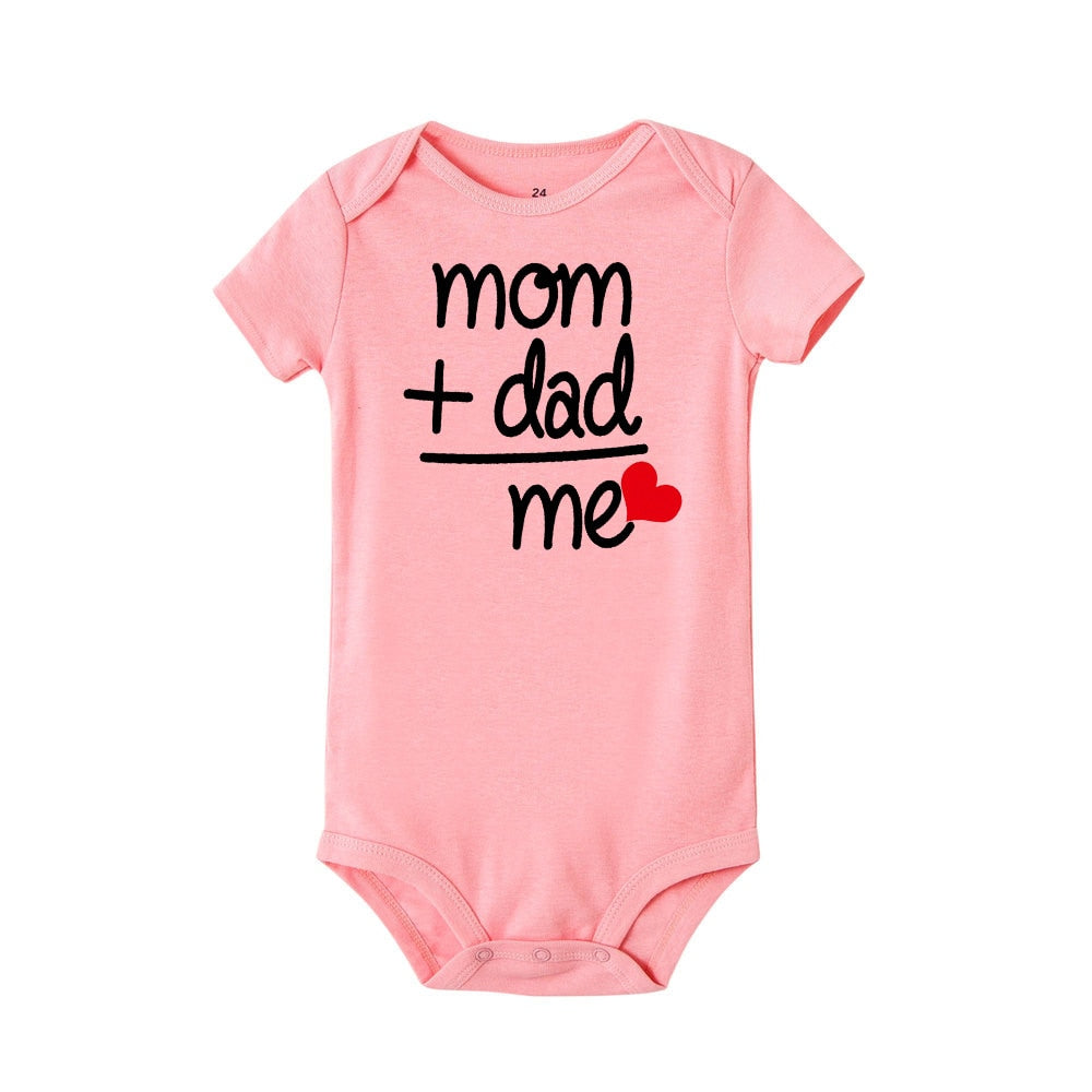 Baby Clothes Boys Girls Bodysuit Funny Cute Daddy Mom Gift 100% Cotton