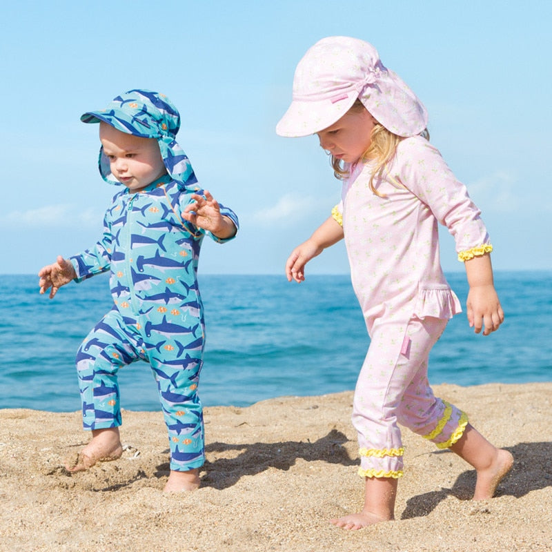Swimwear Girl Children Boy Swimsuit Two Piece Bathing Suits Swimming Suit for Long Sleeve Biquini Infantil Menina Maillot De
