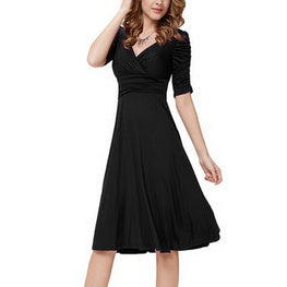Brief women dress A-line elegant