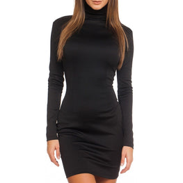 Autumn Long Sleeve Bodycon Casual Dress Fall Slimming Solid Color Elegant
