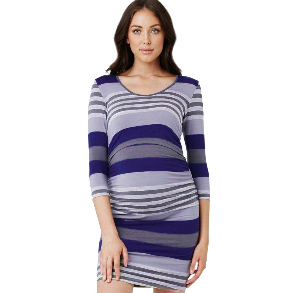 Women Maternity Striped Long Sleeve