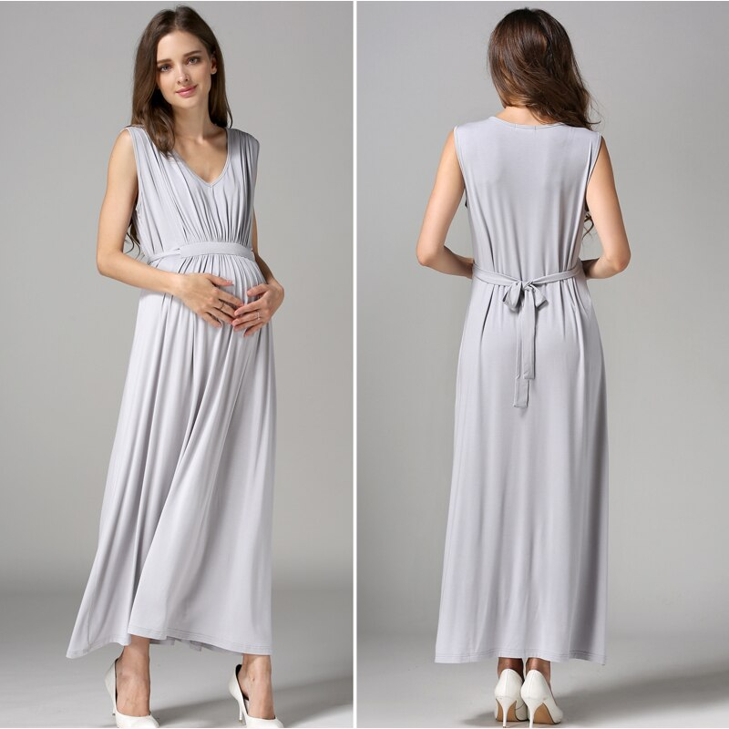 Women's Long Party Evening Dresses Maternity Nursing Breastfeeding pregnancy Dresses