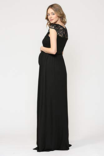 Women's Maternity Dress With Lace Evening Dresses Long Pregnant Woman  Formal Dresses
