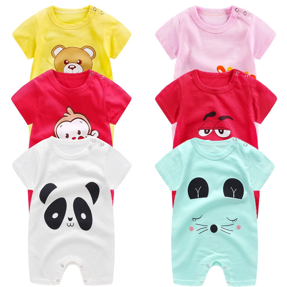 baby rompers 100% cotton short sleeve girls boys clothing
