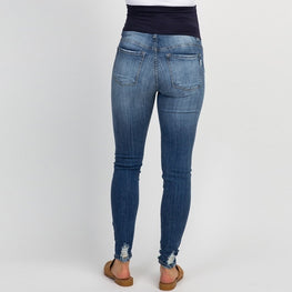 Pregnant Woman Ripped Jeans Maternity Pants Trousers