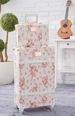 stylish, perfect Women Flowers 20/22/24/26inch size Rolling Luggage and handbag Spinner Brand Suitcase