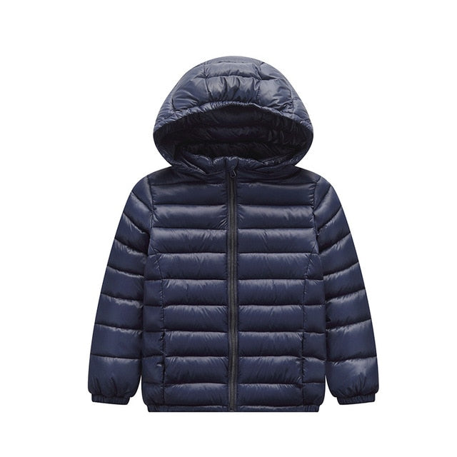 Duck Down Jacket Coat Baby Girls Boys Parka Kids Jacket Hood Winter Children Jacket Spring Fall Toddler Outerwear 1 12 Year