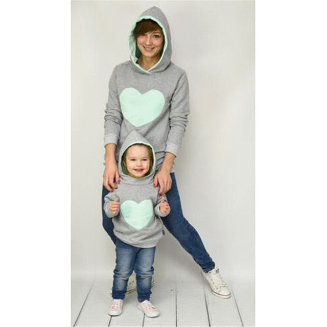 Family Matching Hoodie Mother Daughter