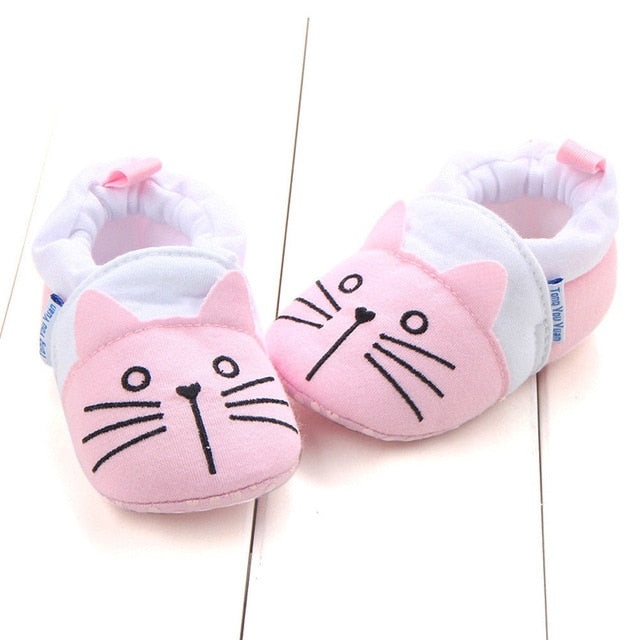 Baby Boys Girls Animal Crib Shoes Infant Cartoon Soft Sole Non-slip